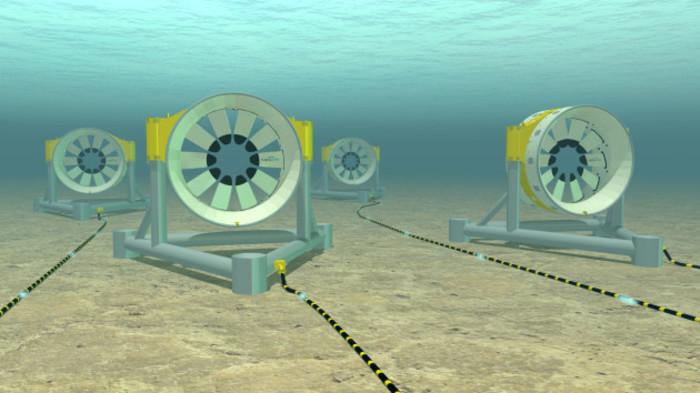 A Dublin company is selling a massive tidal turbine to the