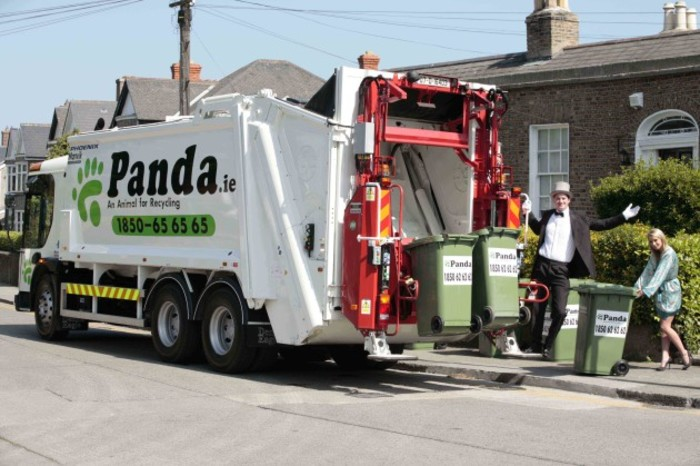 Katy French and Conor Nolan at the launch of Panda's new Silver Service waste collection for Dun Laoghaire - Rathdown. Photo: Nic Mac Innes/Photocall Ireland