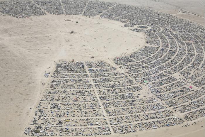 Burning Man Airplane View: 2010