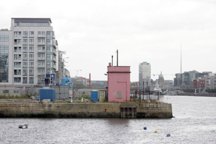 27/7/2006. The area where U2 are going to build their 328ft tall U2 tower in the Dublin docklands. Photo:Leon Farrell Photocall Ireland