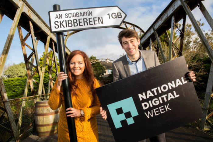 Pictured at the event was Grainne Dwyer (CEO Ludgate Hub) & Callum Donnelly (Co-organiser National Digital Week).