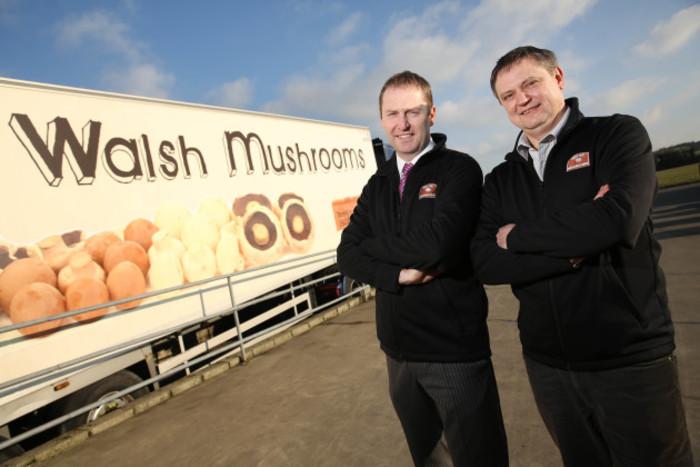 Padraic O'Leary, MD, Walsh Mushrooms & Vitali Shastak, Production Manager, Walsh Mushrooms Golden Ltd