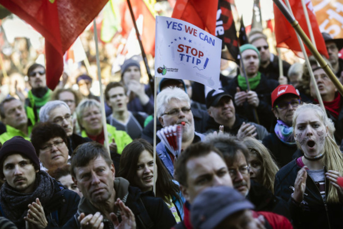 Germany Free Trade Protest