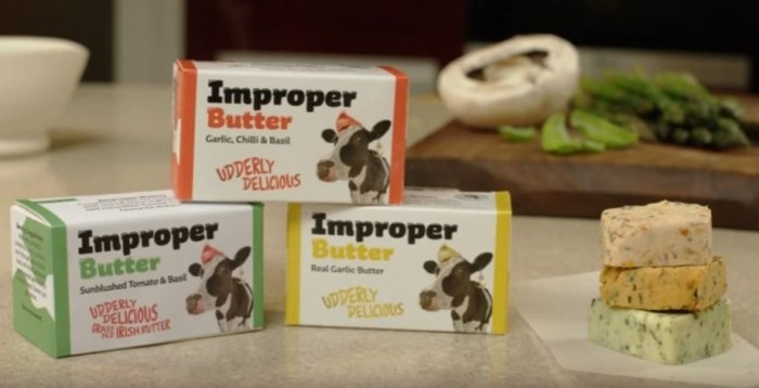 improper butter range