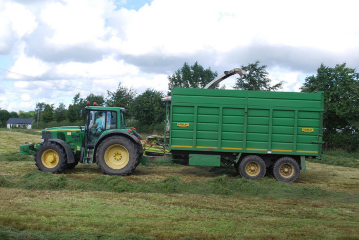 Silage Harvesting - 2nd Cutting - Clonard, Co. Meath, Ireland. August 2013