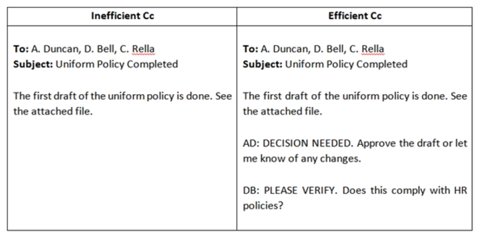 uniform policy example