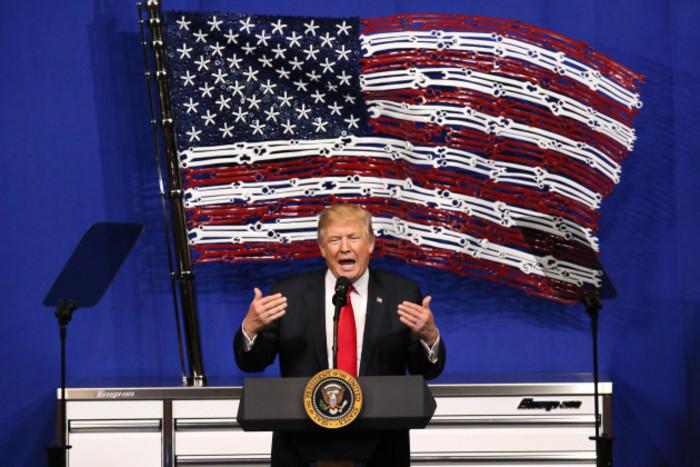 President Trump Speaks In Kenosha - Wisconsin