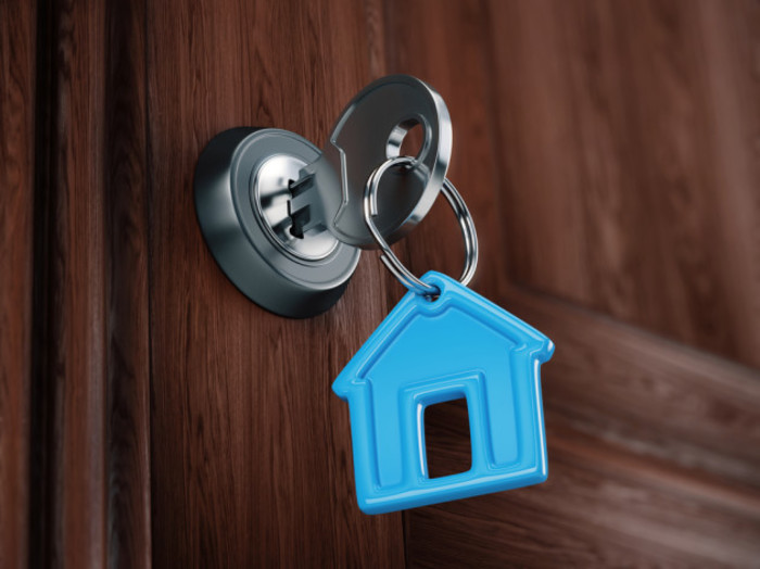 mortgage key in door