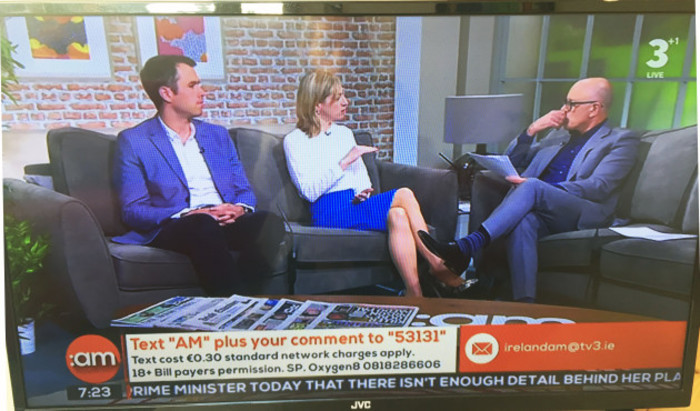 Breda Brown, Unique Media on the 'Making The News' slot on Ireland AM on...