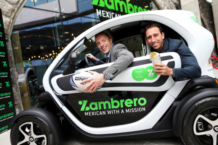 Former Leinster rugby player brings humanitarian food chain Zamb