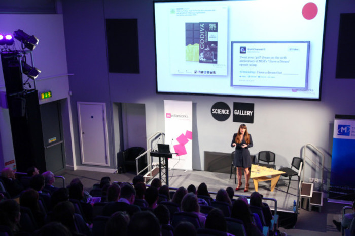 Emer Lawn, Director at Mediaworks presents at the Creat, Alt, Delete event 1