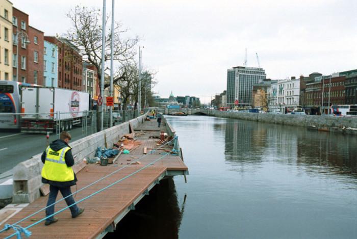 RIVER LIFFEY BOARDWALK DUBLIN SCENES PICTORIAL