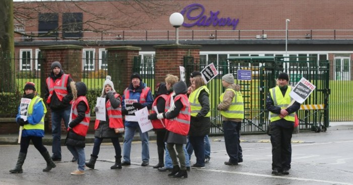 Cadbury picket line