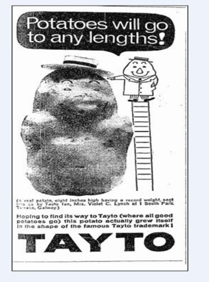 1960s Old Tayto Ad