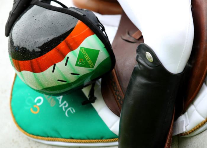 A view of an Irish helmet
