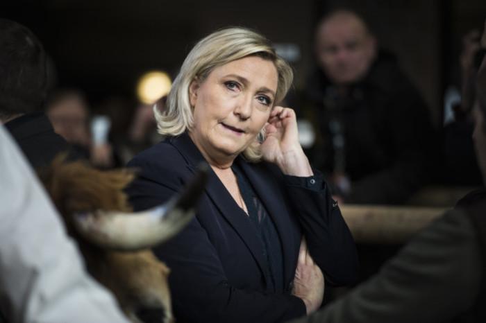 Marine Le Pen Visits The 55th Agriculture Fair - Paris