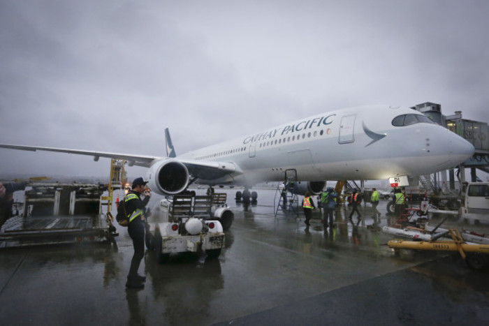 CANADA-VANCOUVER-AIRBUS-A350-900-FIRST SCHEDULED FLIGHT TO CANADA