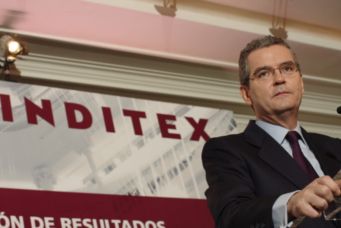 Inditex Group annual results in Madrid