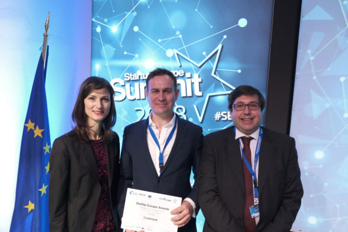Startup Europe Awards - Comissioner Mariya Gabrial & Enda Leahy
