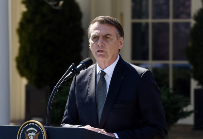 President Trump and Brazilian President Bolsonaro hold a joint news conference - DC