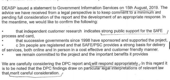 gov response psc