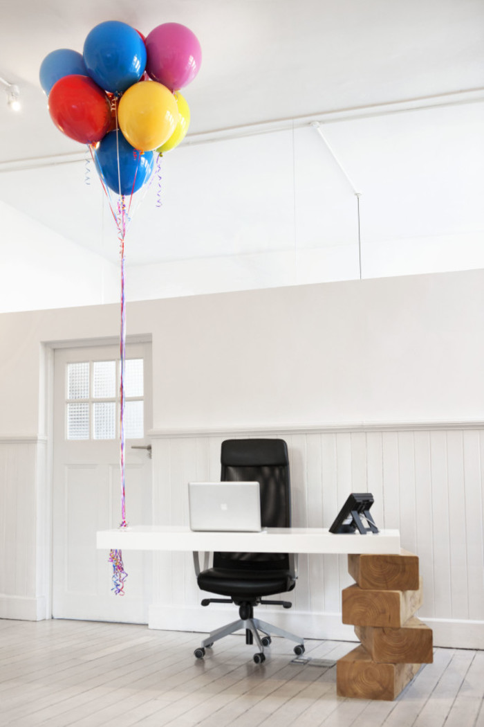 Boys + Girls Giant Jenga Reception Desk