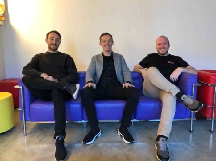 Robbie Skuse, John O'Connor and John Hegarty - Founders Kollect - November 2019