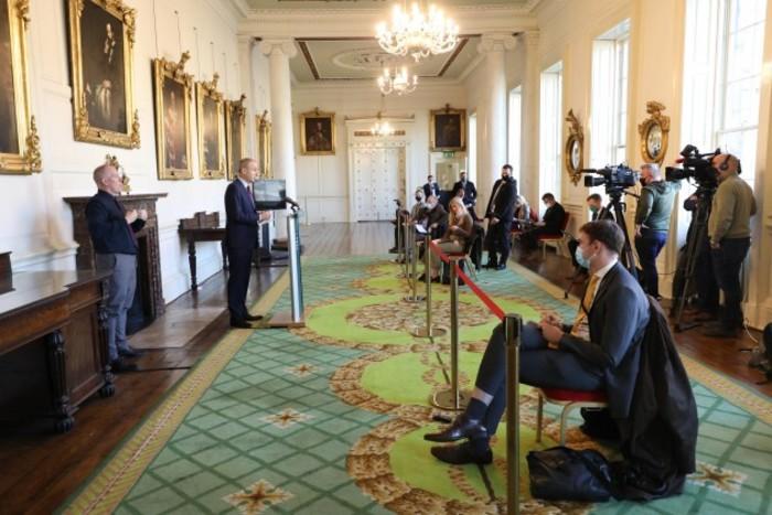 Taoiseach, Press Conference Dublin Castle 007