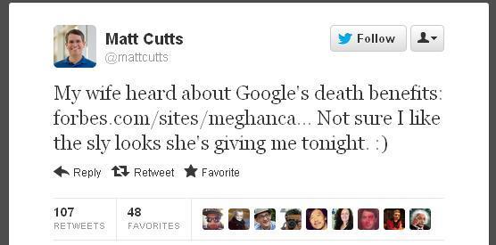 Google Offers Benefits Even When Employee Dies